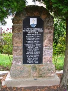 S-8-2014_5. Pamätník obetiam I. svetovej vojny v Malachove