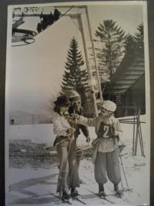 Lyžiarský vlek pri Chate nad Králikami - zima 1975
