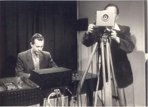 Karol Dillnberger v prvom TV- štúdiu na Slovensku