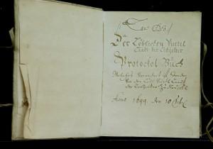 Kniha protokolov – Protokol Buch pre medovnikárov (1699) -(foto SSM)
