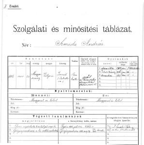 Zápis v prírastkovej knihe Maďarského Národného Múzea v Budapešti z roku 1915 o prijatí mečov do zbierkového fondu.